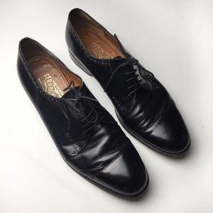 Salvatore Ferragamo classic Italian Oxford shoes.